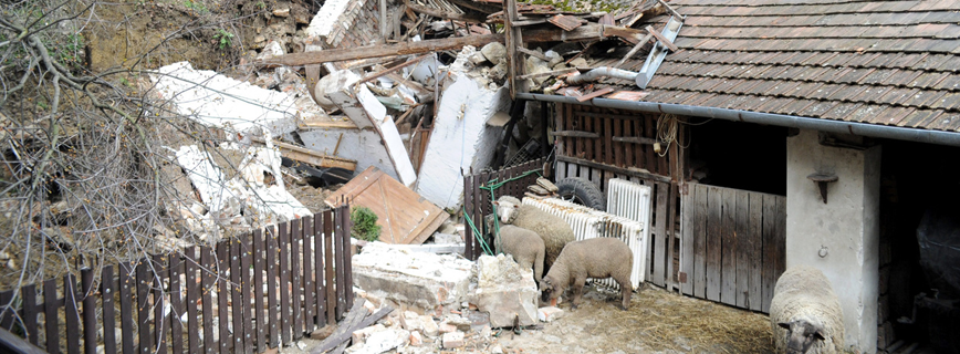 Katasztrófatípusok - Földcsuszamlás aloldal fejlécképe