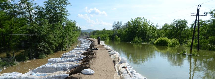 Katasztrófatípusok - árvíz aloldal fejlécképe