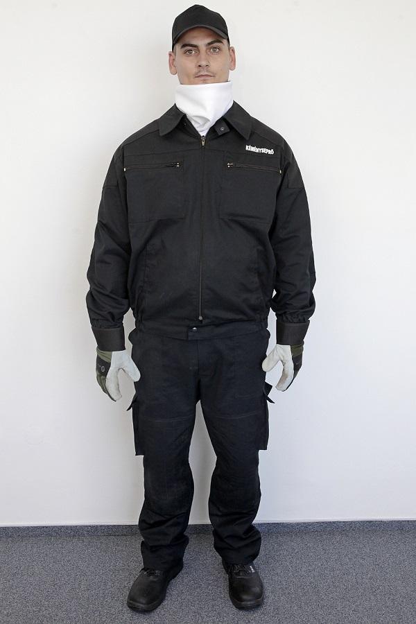 Kéményseprői ruházat (előről)