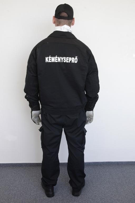 Kéményseprői ruházat (hátulról)